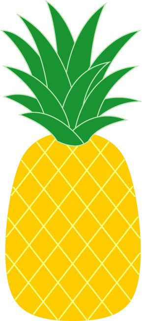 Simple clipart pineapple #1
