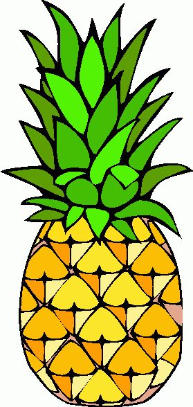 Cartoon clipart pineapple 25+ clipart free white Pinterest