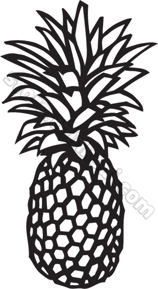 Monochrome clipart pineapple Clipart pineapple Clipart Panda And