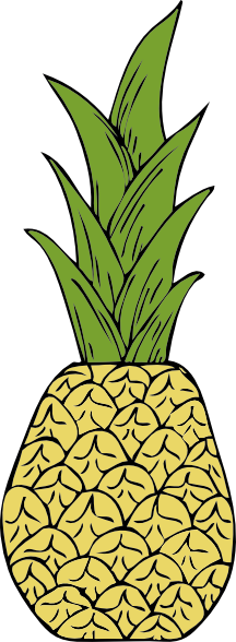 Pineapple clipart cartoon Clip art  pineapple Images