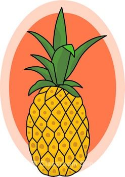 Pineapple clipart cartoon Pineapple art pineapple WikiClipArt images