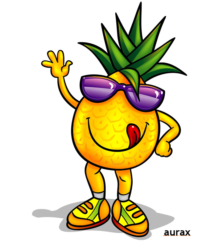 Pineapple clipart cartoon Free by Free Art Art