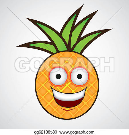 Pineapple clipart cartoon Smile Cartoon Drawing Vector Clipart