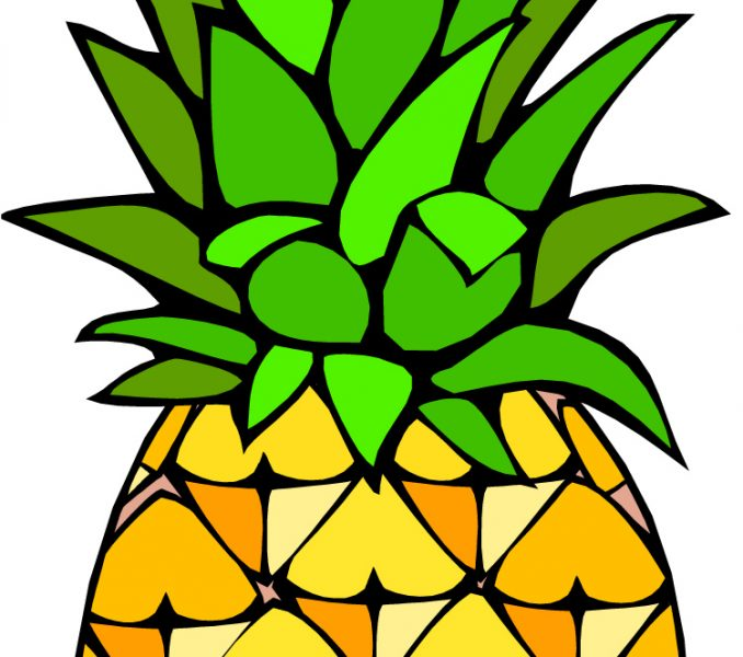 Pineapple clipart cartoon Pineapple pictures Coloring travel Kids