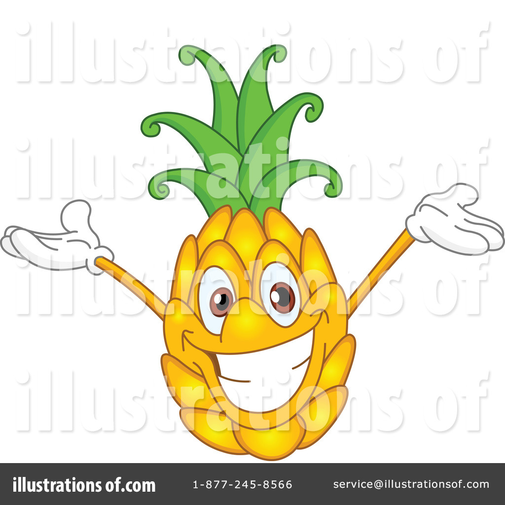 Pineapple clipart cartoon Pineapple (RF) by Illustration Royalty