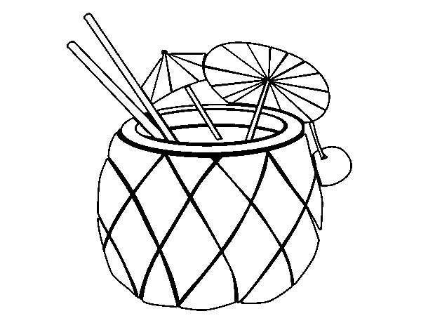 Pineapple clipart coloring page Clipart Coloring Pineapple Clipart Info