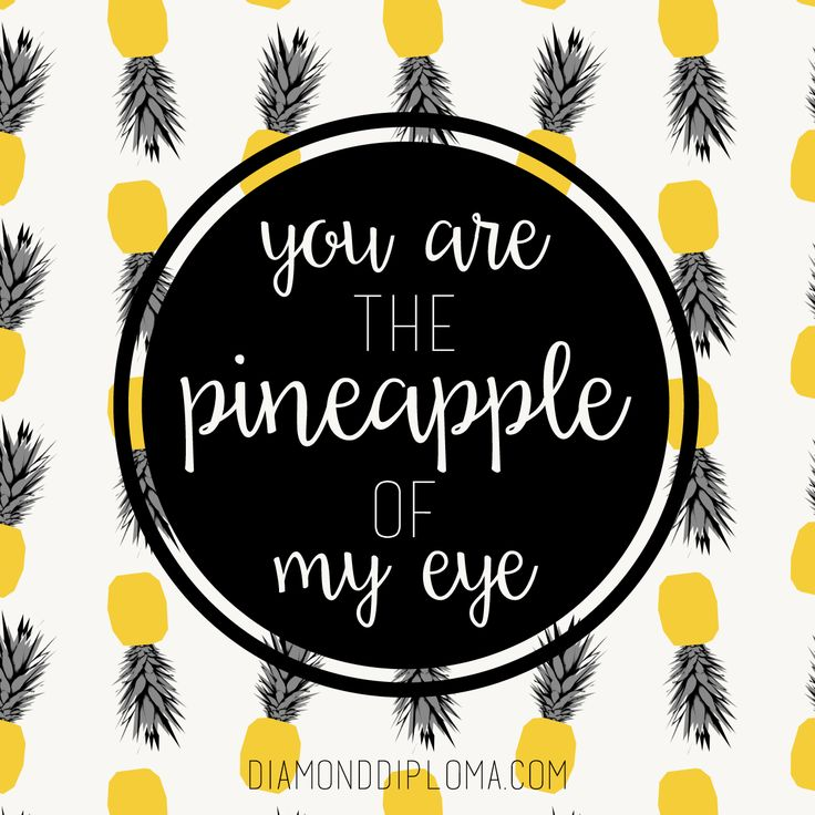 Pineapple clipart eye #diamonddiploma on 29 best Quotes