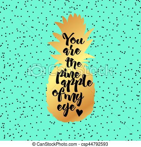 Pineapple clipart eye Eye You Poster EPS Vectors