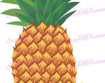 Pineapple clipart fruite Yellow Pineapple JPEG PNG and