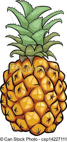 Pineapple clipart fruite Illustration Clip of Art