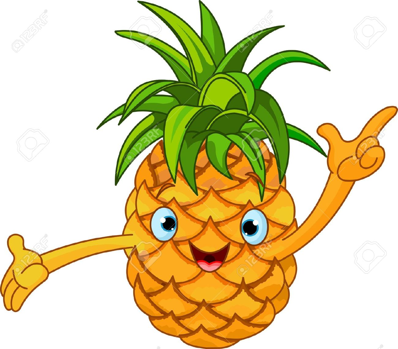 Plant clipart funny Clipart Funny clip Pineapple DownloadClipart