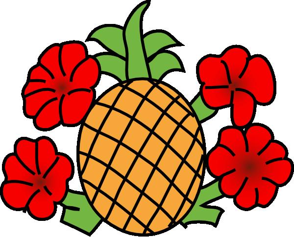 Pineapple clipart hawaiian Art Clker Clip Pineapple Download
