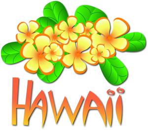 Pineapple clipart hawaiian In a Hawaiian Text Flowers
