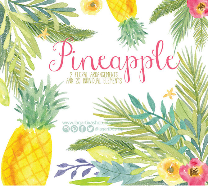 Pineapple clipart hawaiian Clip Free Download Flower Pineapple