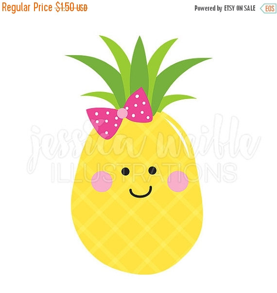 Pineapple clipart kawaii Cute Clipart Girly Clip Graphics