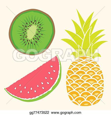Mango clipart watermelon Fruit EPS mango watermelon Vector
