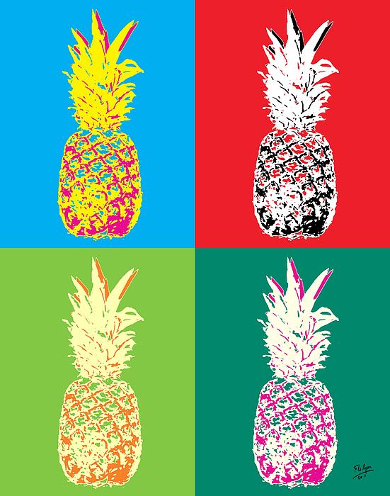 Pineapple clipart pop art Flo 33 Popart Ryan 33
