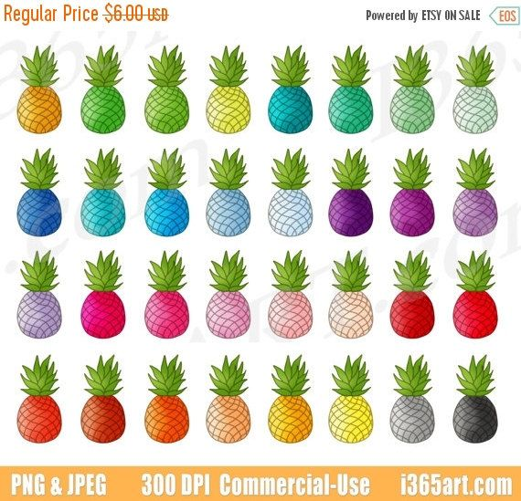 Pineapple clipart single fruit Pineapple Pineapple clipart Pineapple 50%