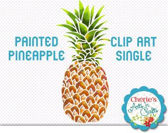 Pineapple clipart single fruit Clip Clipart: Metallic Clip Painted