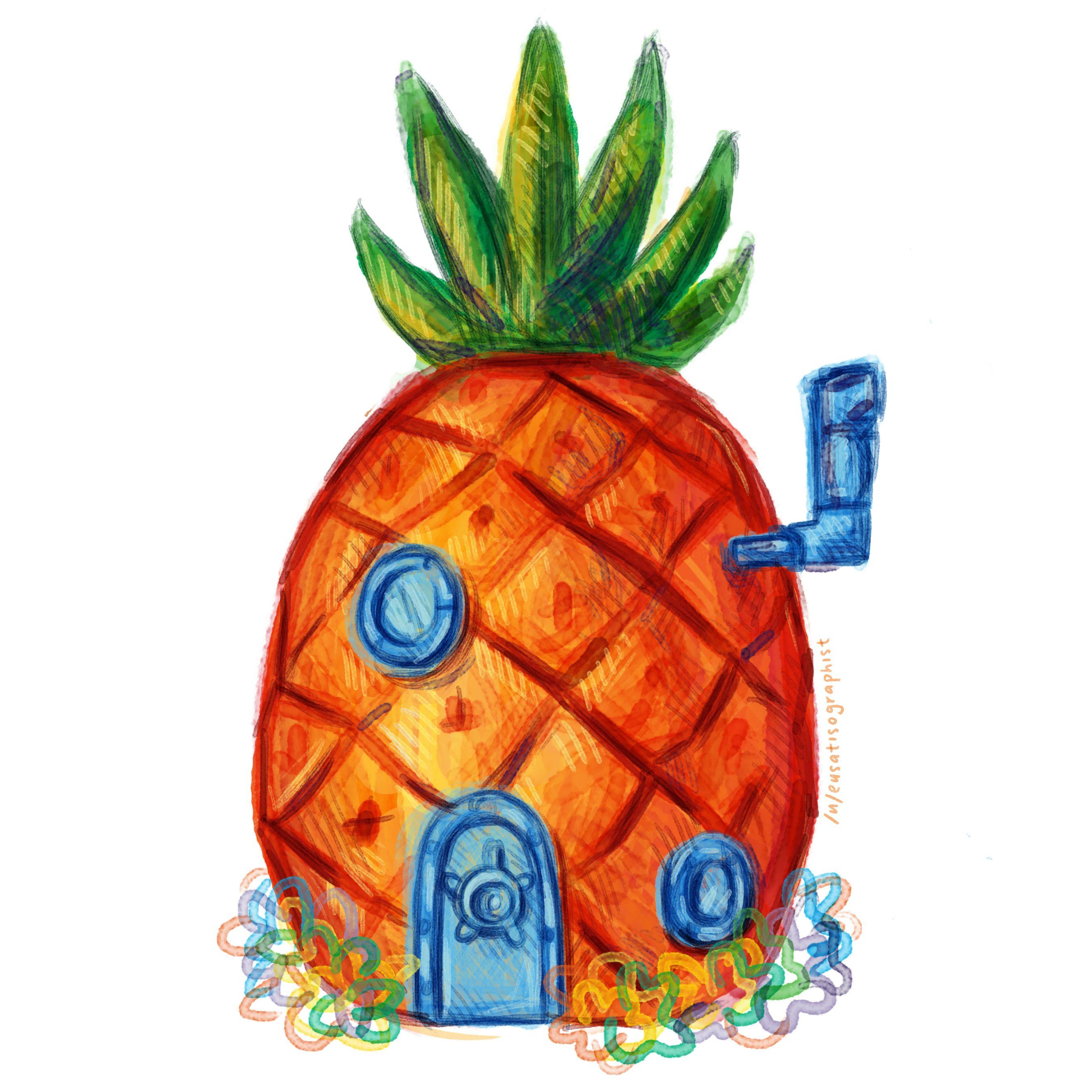 Pineapple clipart spongebobs House September Community pineapple our