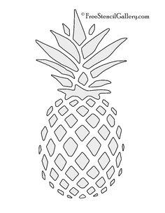 Pineapple clipart stencil Large Gallery stencil Google Stencil
