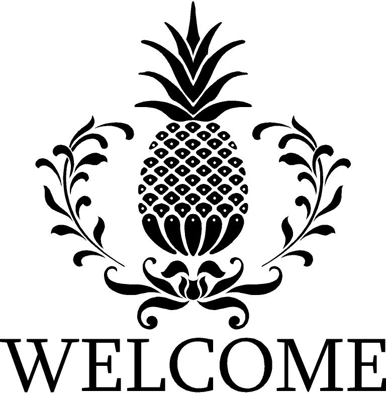 Pineapple clipart stencil On more ~WELCOME ~ and