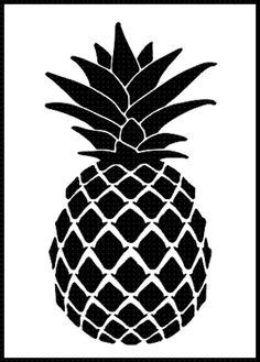 Pineapple clipart stencil Pattern stencil decorating ideas pineapple
