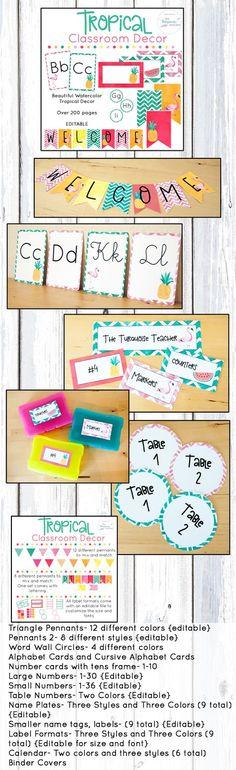 Pineapple clipart two Decor Classroom Cute  Editable