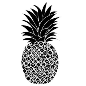 Pineapple clipart two On clipart pineapple white ideas