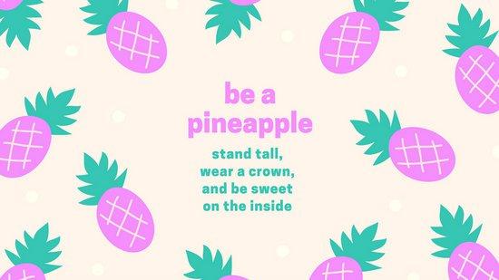 Pineapple clipart wallpaper Cute Wallpaper Tropical by Wallpaper