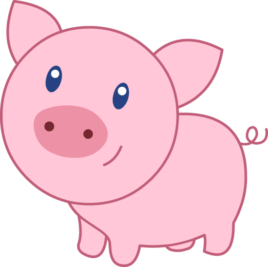 Pig clipart cute pig Clipart #2 Pink drawings clipart