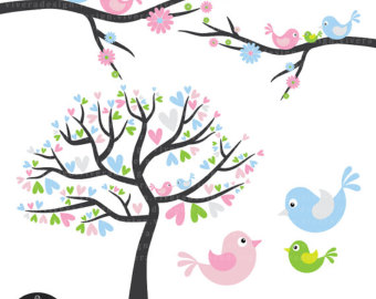 Brds clipart baby pink And Blue Etsy little Baby
