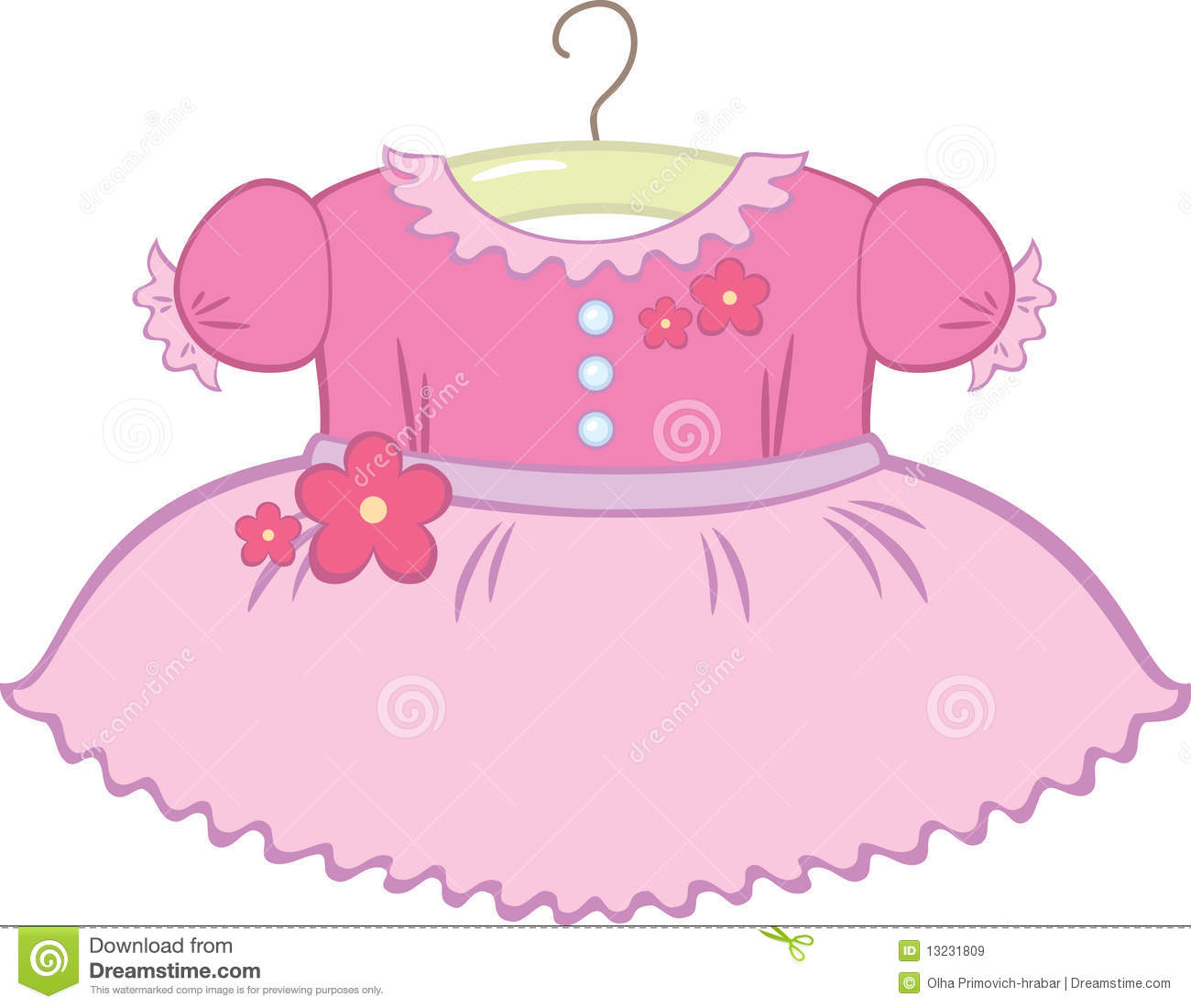 Pink Dress clipart kid cloth #2