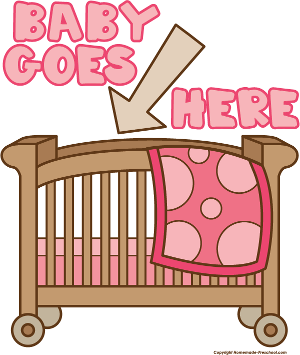 Pink clipart baby crib To Clipart Click Shower Save