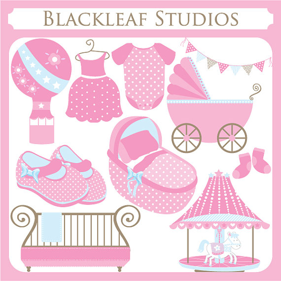 Pink clipart baby crib Things Girl cot Girl Baby