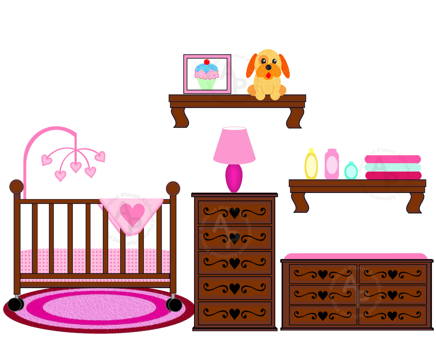 Pink clipart baby crib Images Crib Clipart crib%20clipart Free