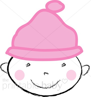 Pink clipart baby hat On your girl with Clipart