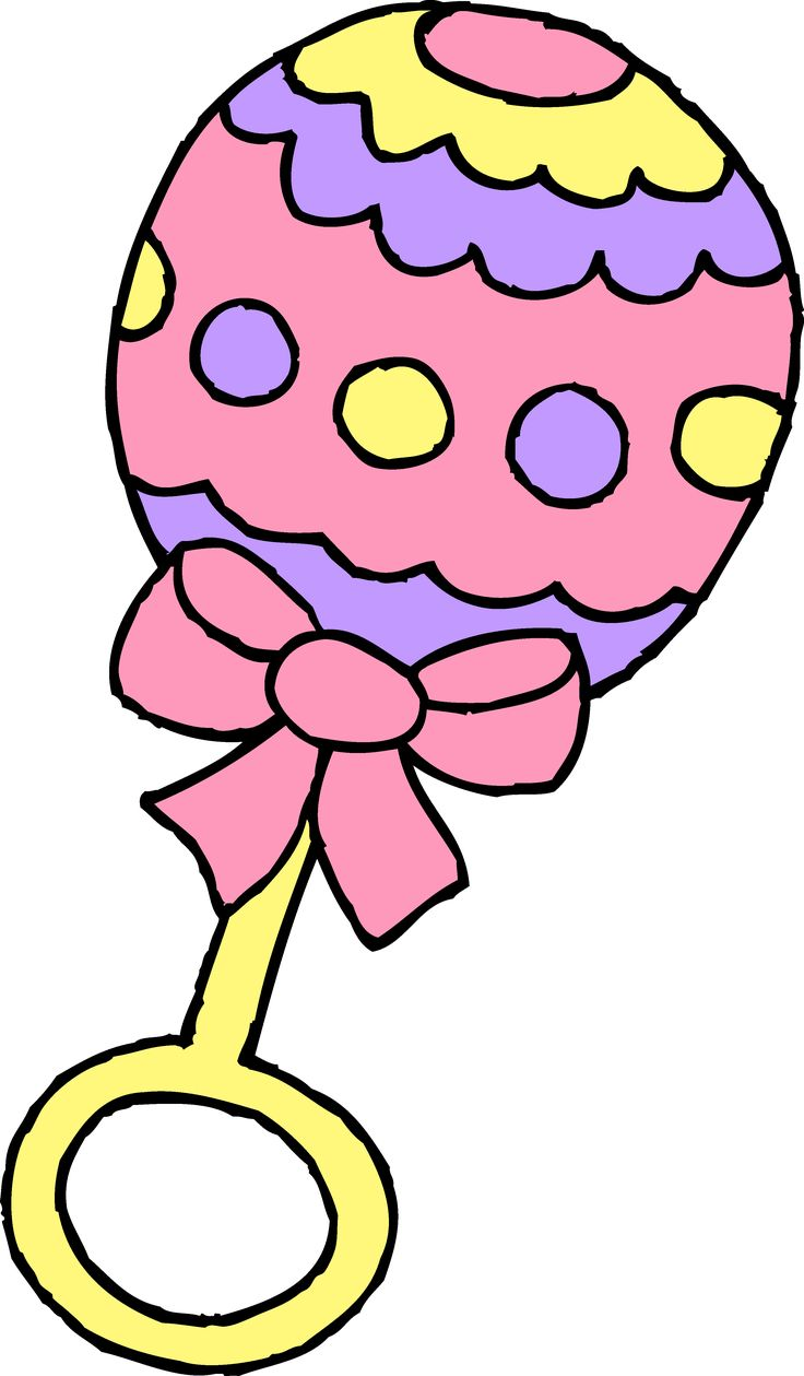 Pink clipart baby rattle Sefcik by Rattle Clipart on