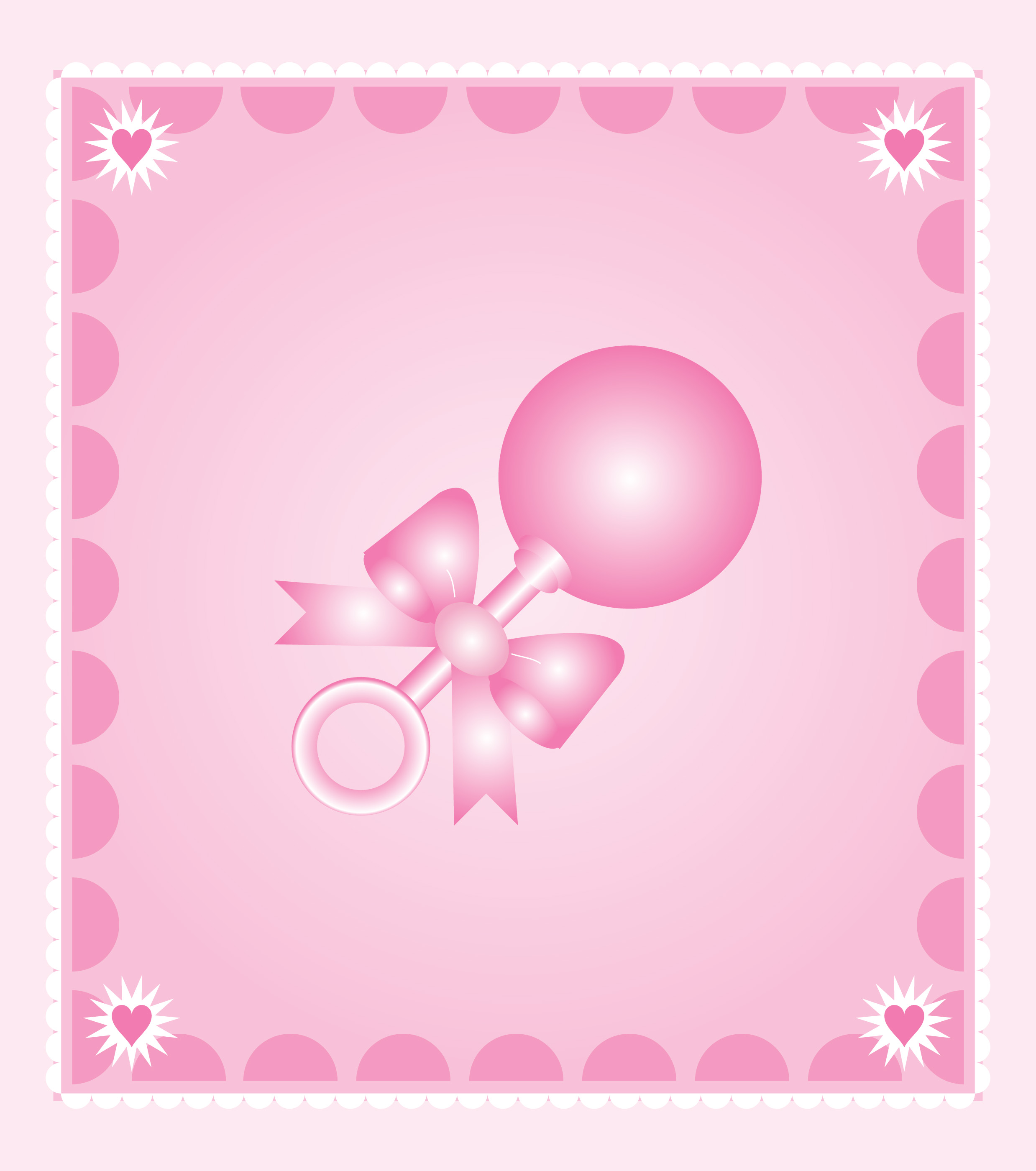 Pink clipart baby rattle Art #21844 rattle baby Baby