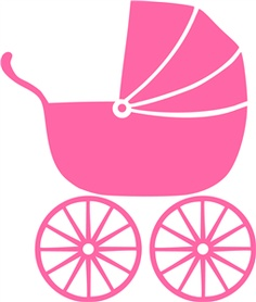 Carriage clipart pink stroller On Clip Clip Free Stroller