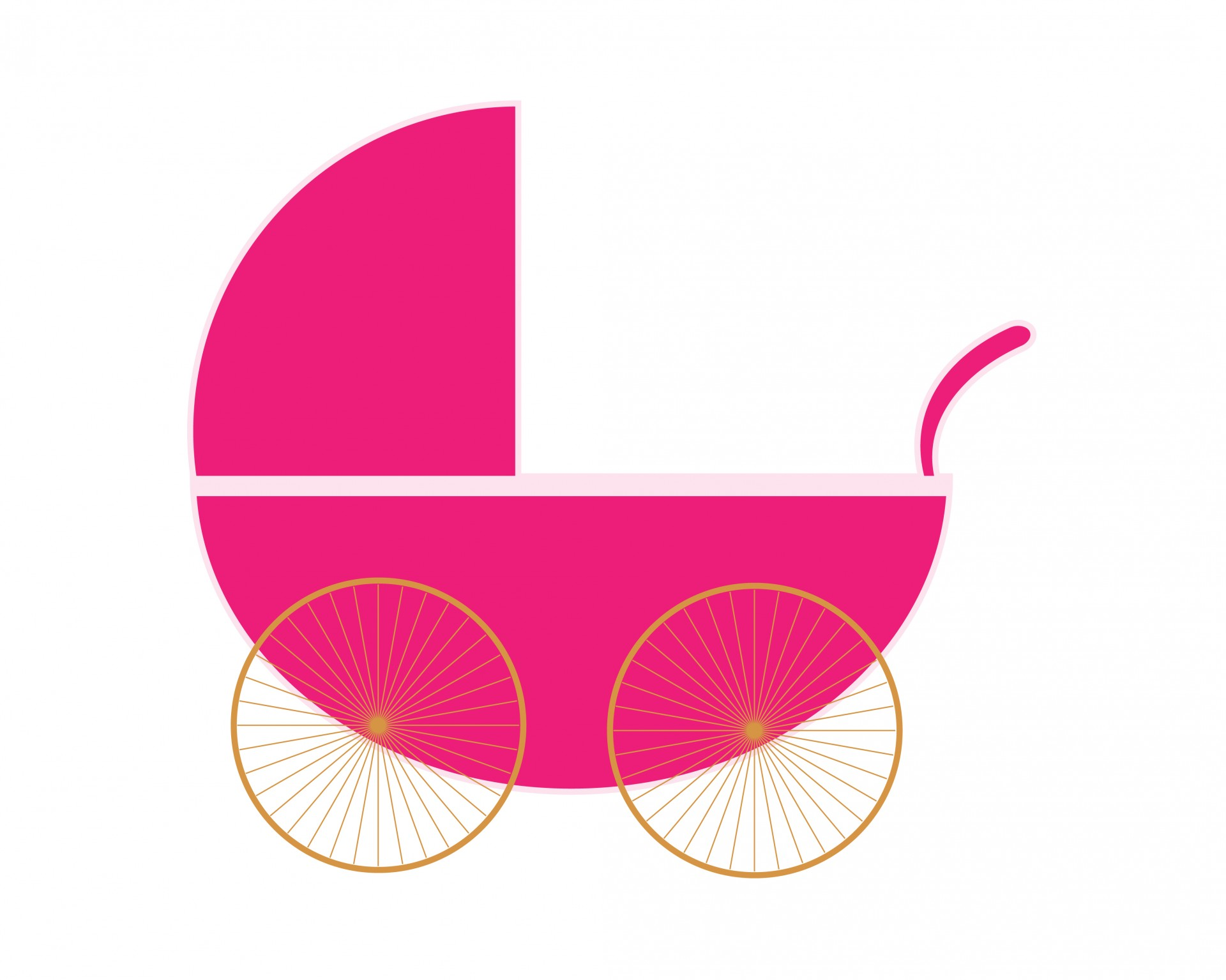 Carriage clipart pink stroller Stroller Baby Stroller of Baby