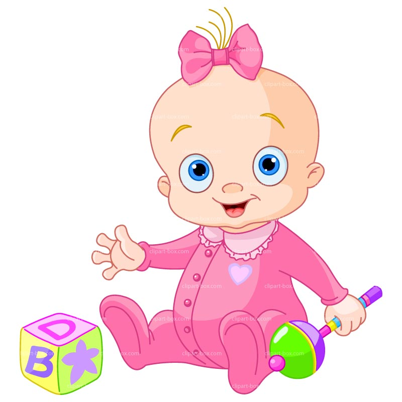 Baby clipart cute baby Of for WITH Vector GIRL