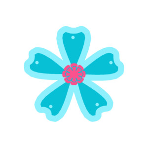 Blue Flower clipart pink flower Flower Art Blue Blue Pink