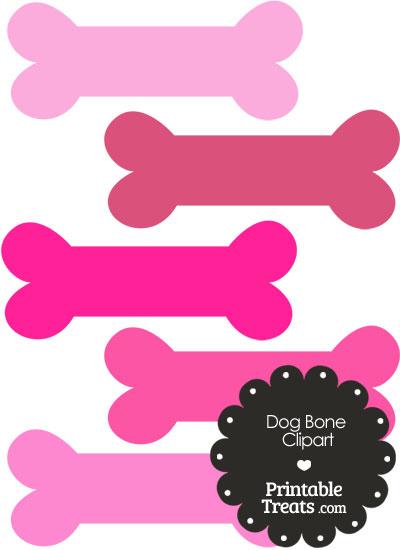 Bones clipart pink Printable Clipart Shades Dog com