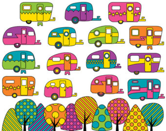 Wilderness clipart vintage camping JPG) Campers clip Elements &