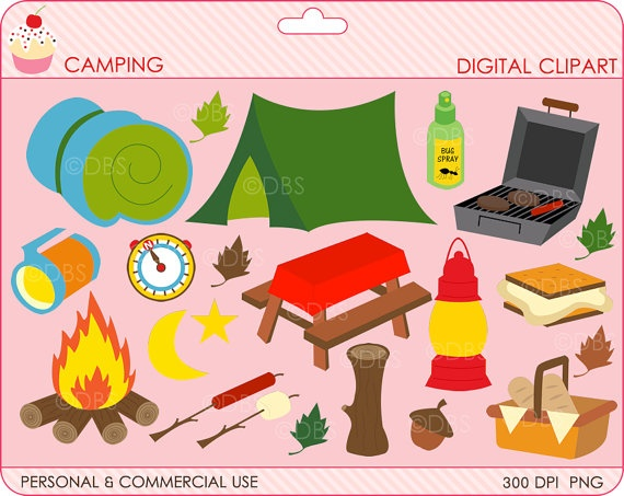 Pink clipart camping DigitalBakeShop camping Clipart 47 on
