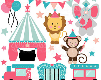 Circus clipart girly For clipart girl DOWNLOAD Etsy