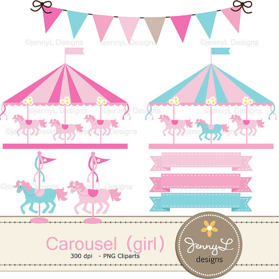 Pink clipart carousel Pink This file Digital digital