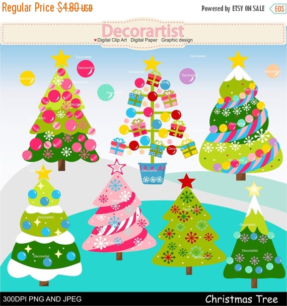 Christmas Tree clipart decorative ON clipart clipart Christmas clipart