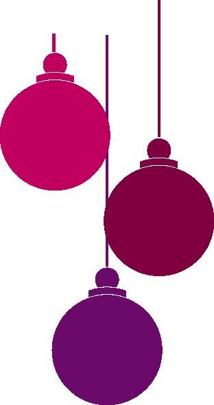 Christmas Lights clipart purple  this Ornaments art vector